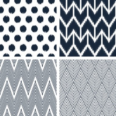 Black and white patterns.