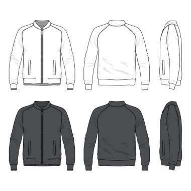 blank bomber jacket with zipper