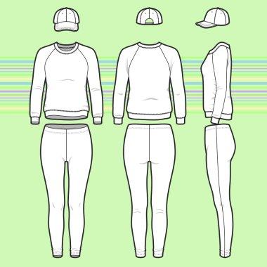 Sweatshirt, cap and leggins set