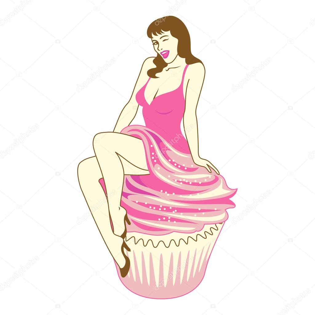 Swell Pin Up Girl Stock Vector C Aunaauna2012 70291227 Funny Birthday Cards Online Sheoxdamsfinfo