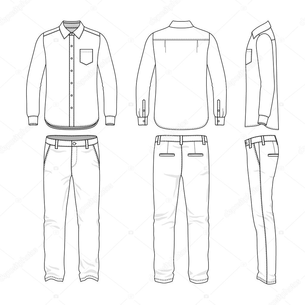 Pictures Mens Fashion Templates Men S Clothing Set Stock Vector C Aunaauna2012 70293699