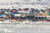 Fotografie Colorful houses in Ilulissat