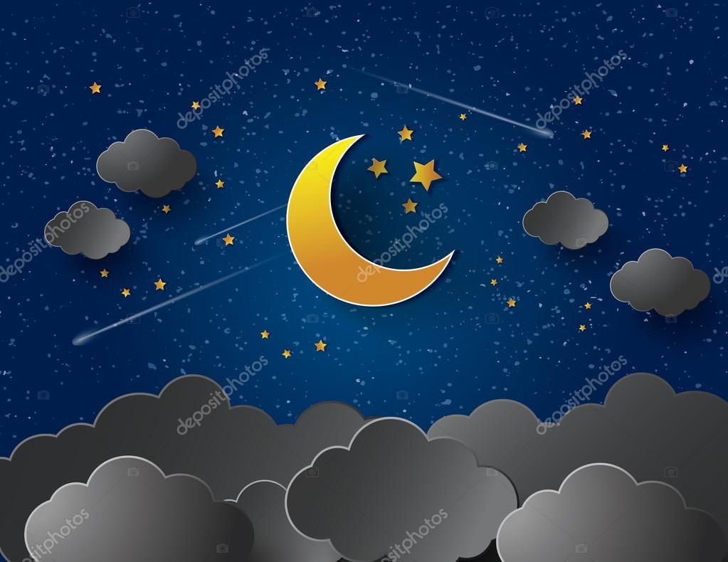 moon and stars - HD2880×1800