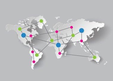 Paper World Map Graphics.