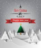 Fotografie veselé vánoční krajina. vektor