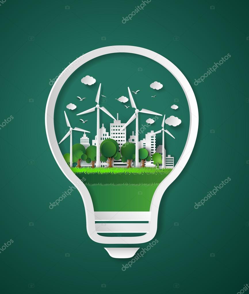 paper cut of eco