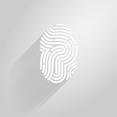 Letter P logo icon fingerprint style and long shadow.vector illustration.