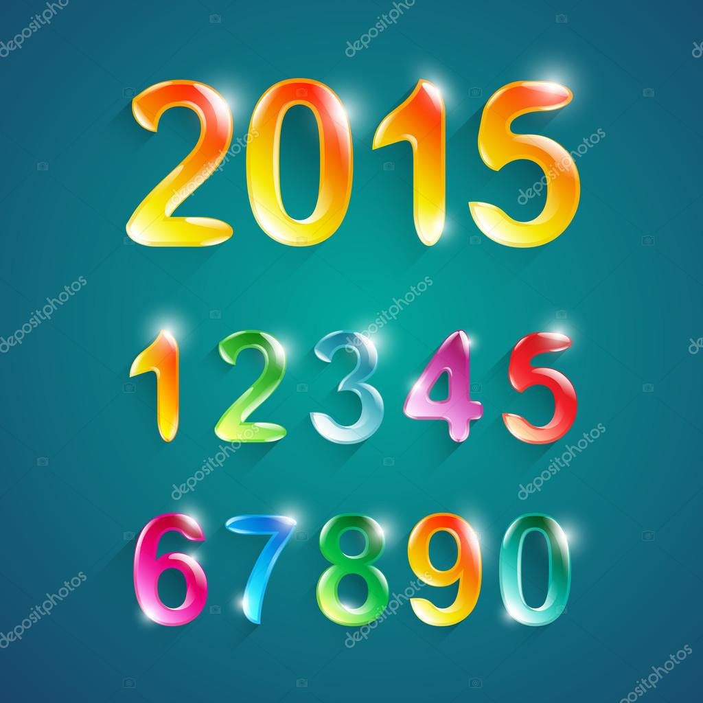 Alphabet numbers crystal colors style 0,1,2,3,4,5,6,7,8,9 ,0.New ...