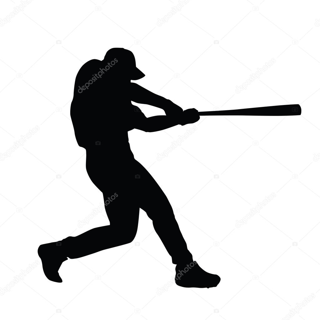 baseball player vector silhouette baseball batter baseball pla rh depositphotos com baseball player victor martinez baseball player victor martinez
