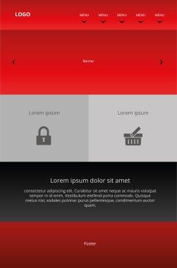 Modern responsive web design. Graphic template