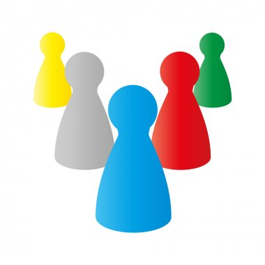 Vector illustration of figures for playing board games