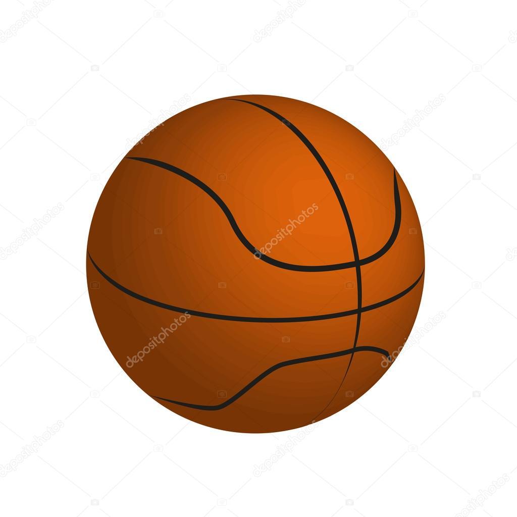 desenho de uma bola de basquete vetorial vetor de stock msanca