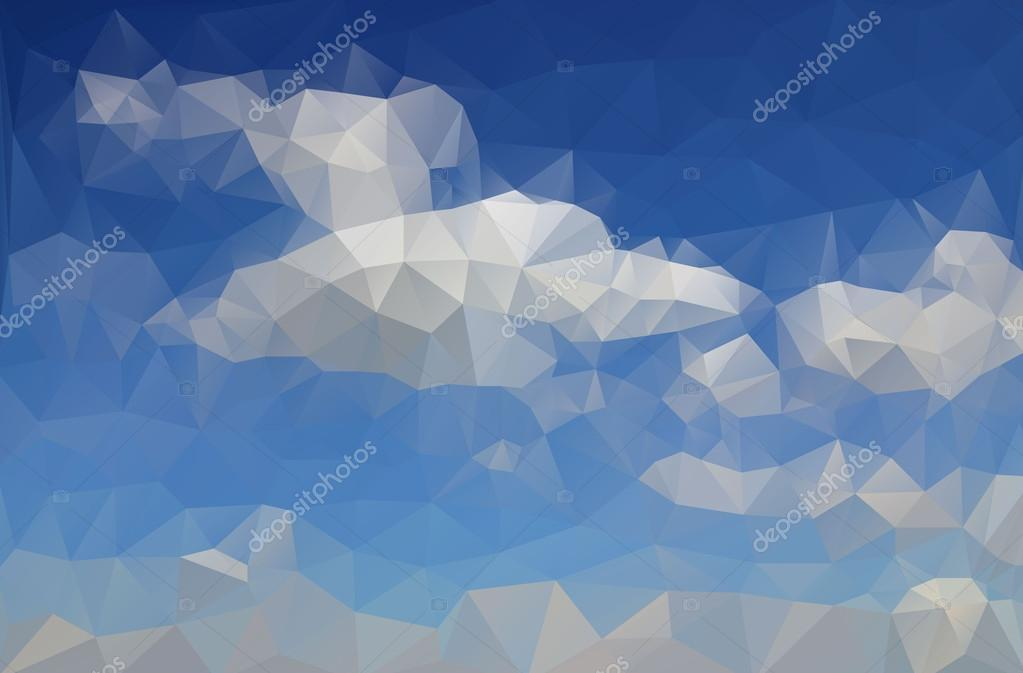 Abstract drawing azure blue sky with white clouds created from t