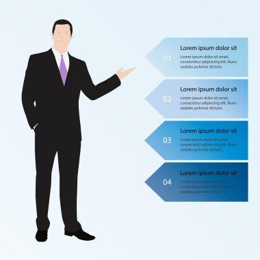 Financial report & statistics. Future technology business.Busine