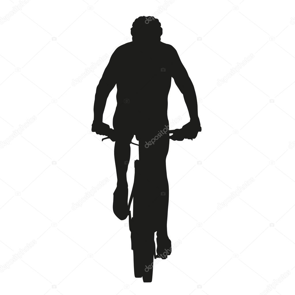 isolated vector mountain biker silhouette stock vector 64999317