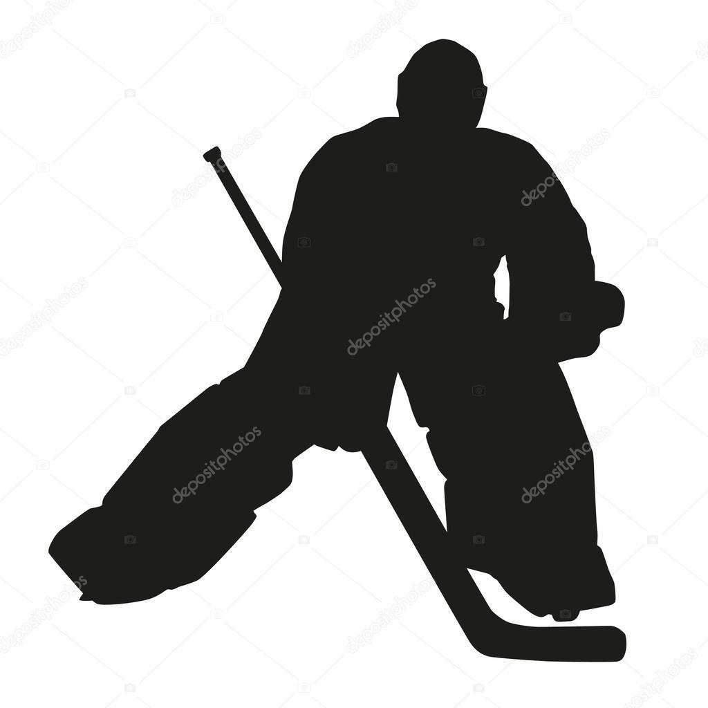 Hockey Goalie Silhouette Stock Vector C Msanca 64999417