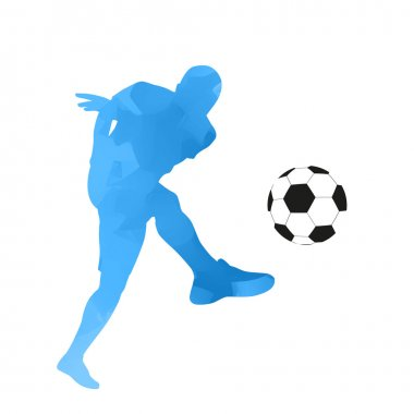Abstract vector blue football player