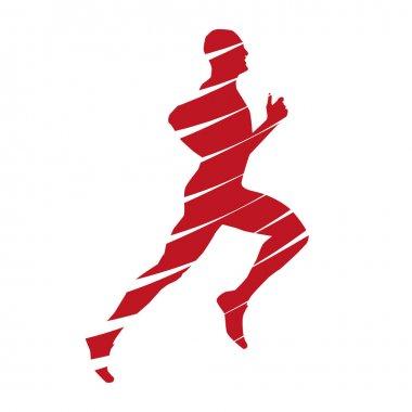 Abstract vector running man