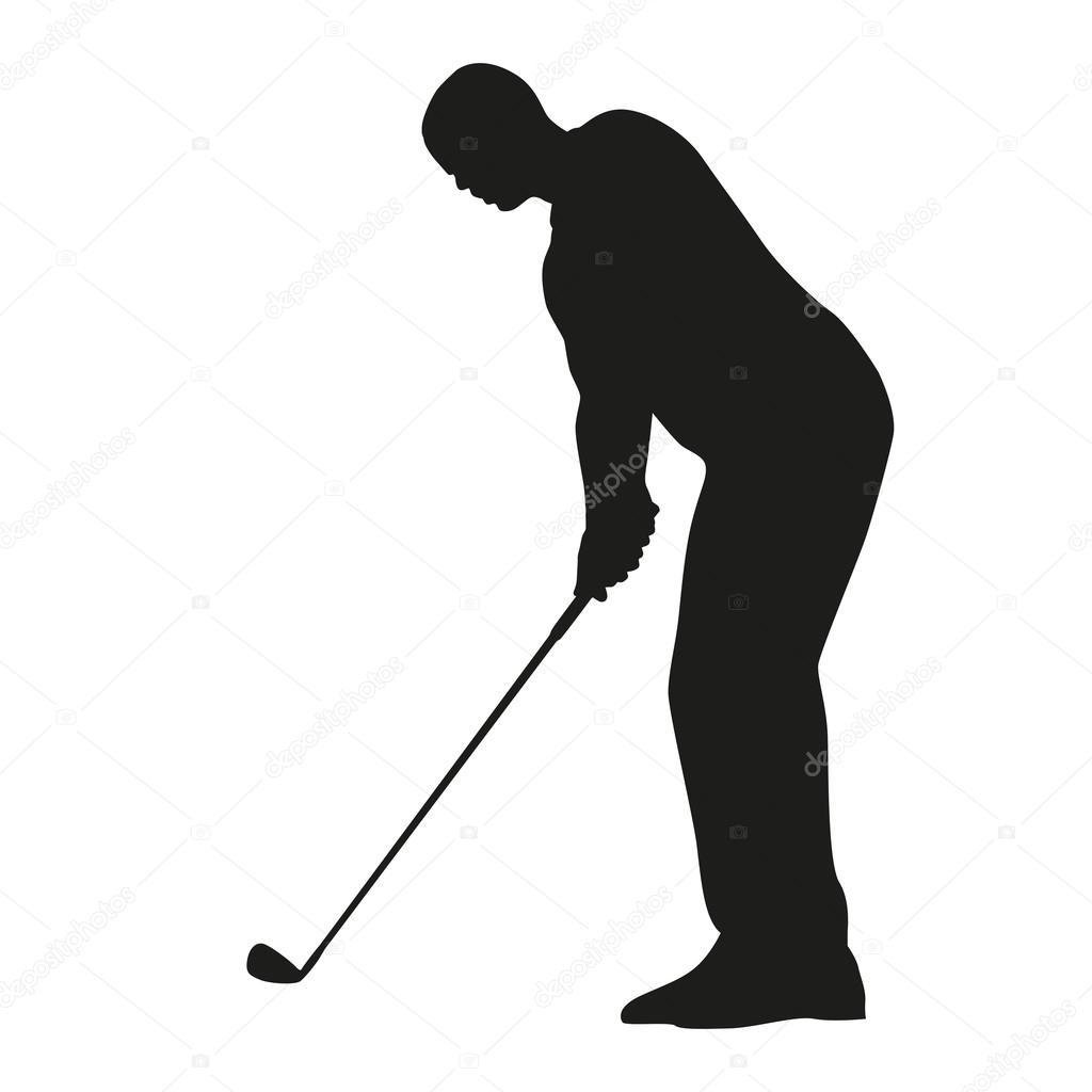 Golfer Silhouette Vektor Stockvektor C Msanca 68461961