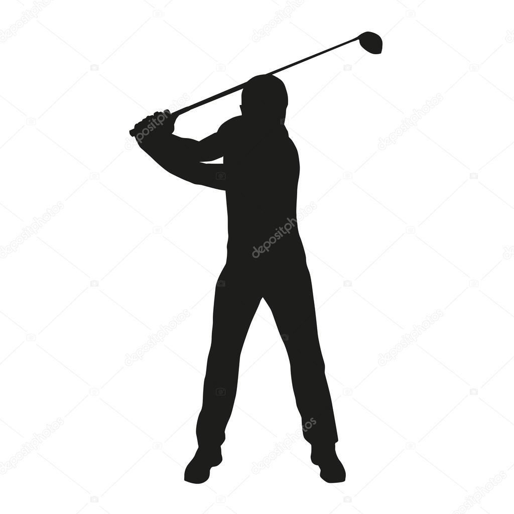 Golfer Silhouette Stock Vector C Msanca 68462049