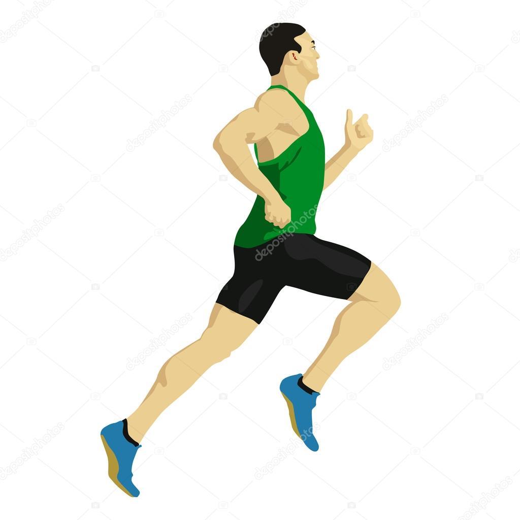 vector athlete drawing runner vector drawing illustration athlete stock vector c msanca 82567492 https depositphotos com 82567492 stock illustration runner vector drawing illustration athlete html