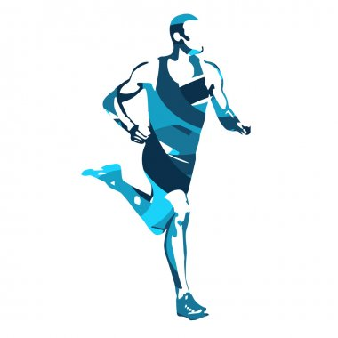 Run. Vector runner, abstract silhouette