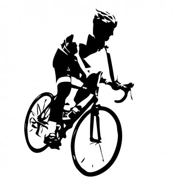 Cyclist silhouette. Vector