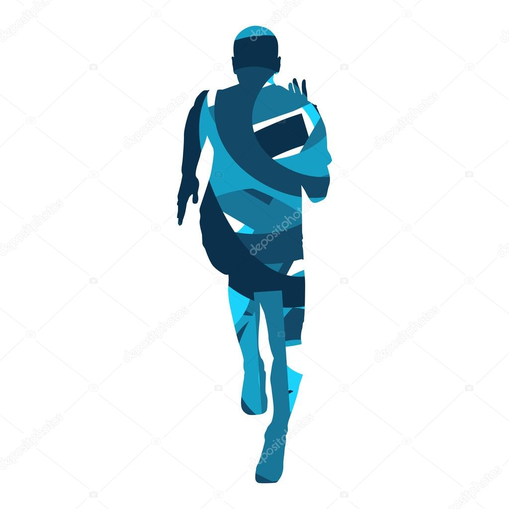 run vector runner abstract silhouette stock vector msanca rh depositphotos com runner vector free download runner vector silhouette free