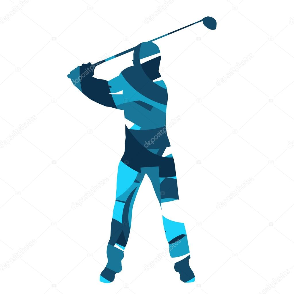golf player vector abstract golfer silhouette stock vector rh depositphotos com golf vector clip art for free golf vector clip art for free