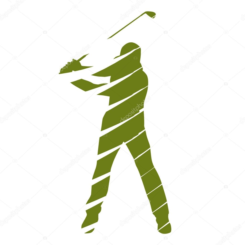 Golf Player Abstract Golfer Silhouette Stock Vector C Msanca