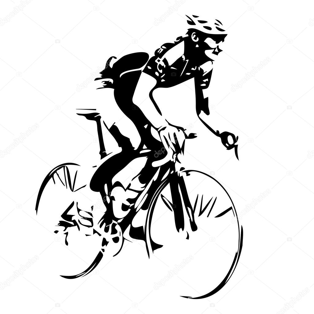 ciclista desenho vetorial vetor de stock msanca 92766712