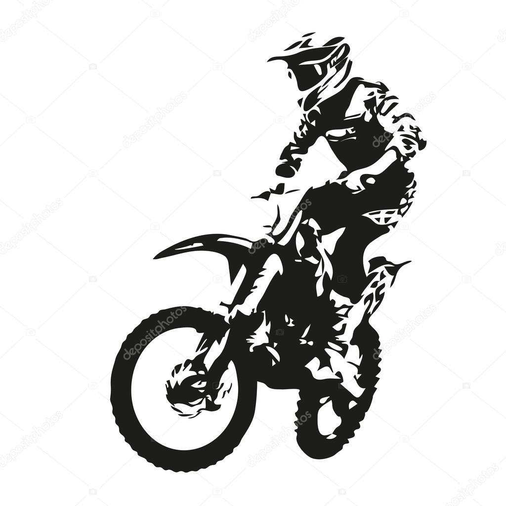 Motocross Rider Vector Vector Image By C Msanca Vector Stock 92766780