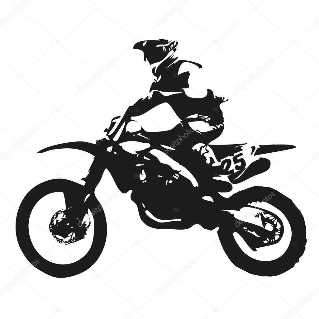 Motocross Vector Silhouette Vector Image By C Msanca Vector Stock 99351118