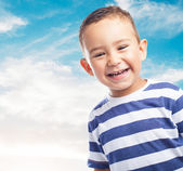 Happy kid smiling and having fun