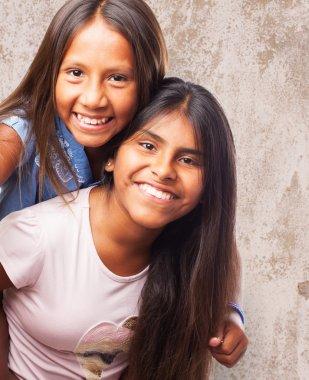 Cute sisters having fun
