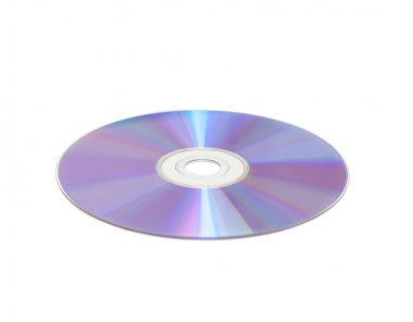 Cd isolated over white