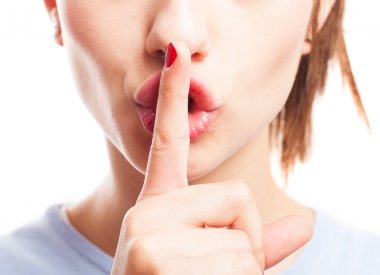Girl asking for silence