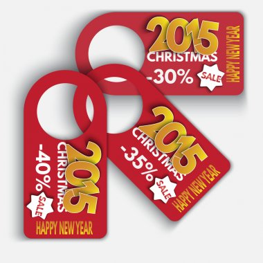 Price Tag Discounts. Labels Sale Set. Happy New Year