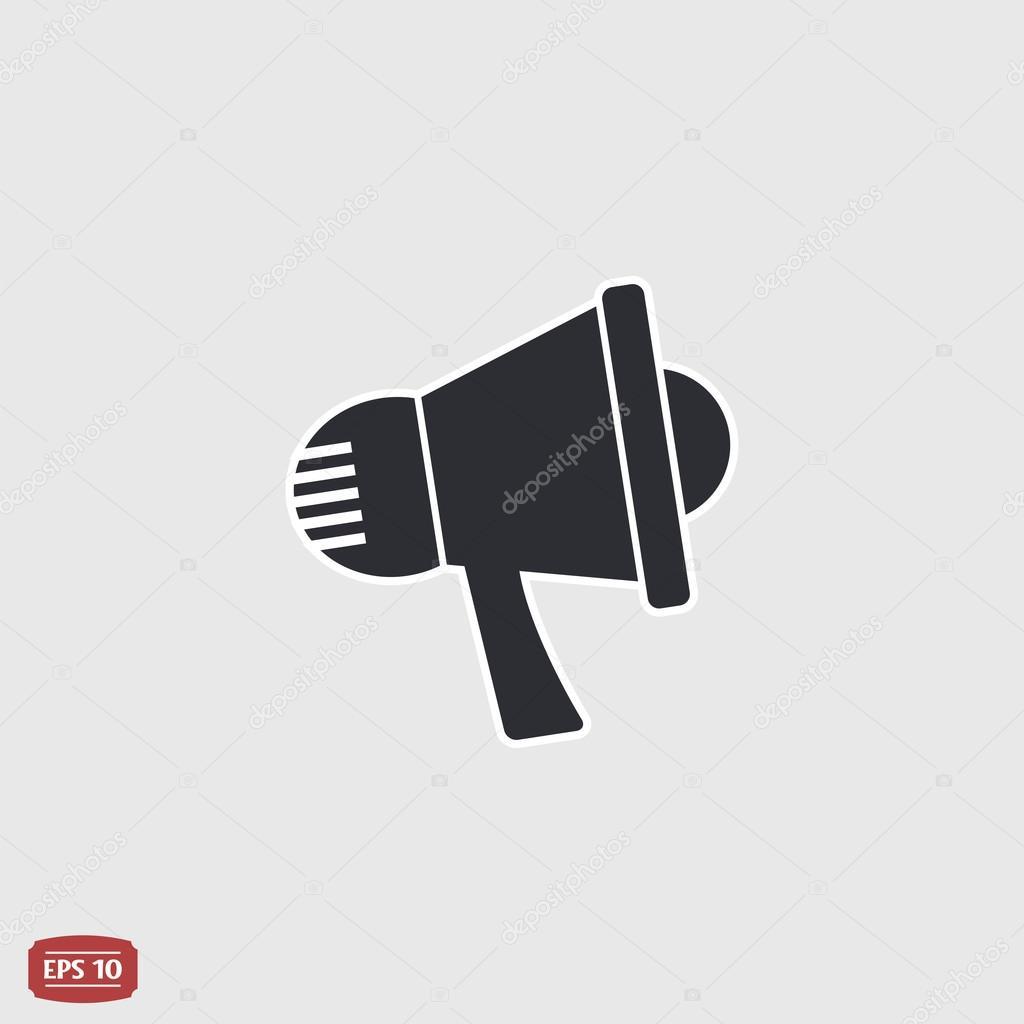 Speaker icon. Megaphone, loudspeaker symbol. Flat design style ...