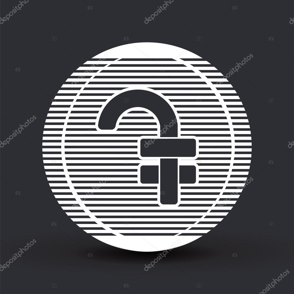 Armenian Dram Currency Symbol Flat Design Style Stock Vector