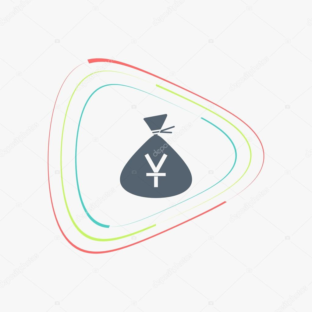 Yen currency symbol chinese currency money bag icon flat design yen currency symbol chinese currency money bag icon flat design style made in vector illustration vector by weikraft88 biocorpaavc Image collections