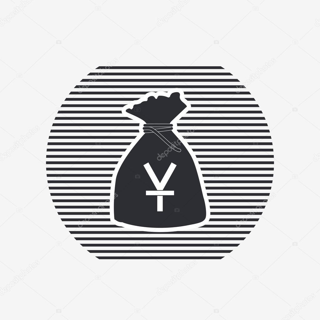 Yen currency symbol chinese currency money bag icon flat design yen currency symbol chinese currency money bag icon flat design style made in vector illustration vector by weikraft88 biocorpaavc