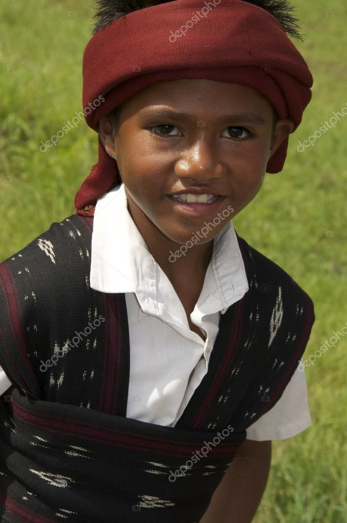 boy in  in traditional clothes Flores Indonesia