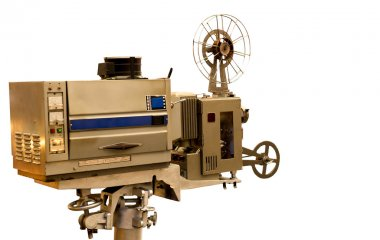 Vintage Film Projector isolated