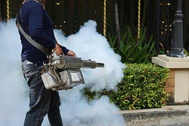 Fogging to prevent the dengue fever
