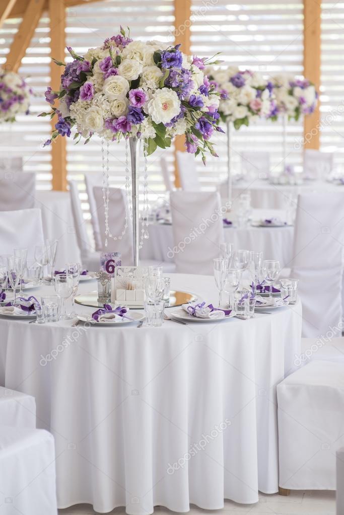 Wedding Decor Violet White Stock Photo Sergmam 124494058