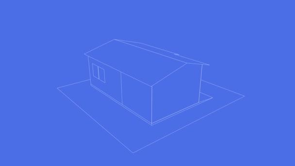 3D půdorys domu