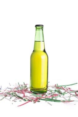 Unlabeled beer bottle