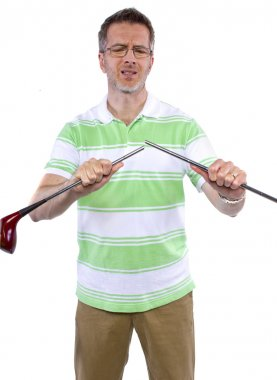 Man broke golf stick