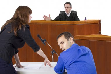 Defendant with lawyer